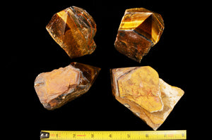 "Tigers Eye Polished Top 4"" 14-16 Oz Solar Plexus Chakra - Kidz Rocks"