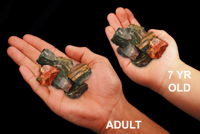 "Fancy Jasper 1"" Set of 6 Root Chakra"
