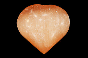 "Orange Selenite Heart 2 1/2"" 4-7 Oz Sacral Chakra - Kidz Rocks"