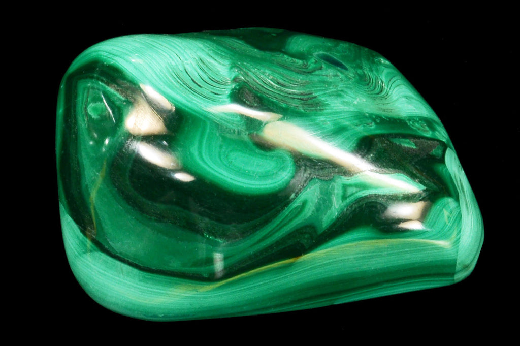 "Birds Eye Malachite 1 1/2"" Heart Chakra - Kidz Rocks"