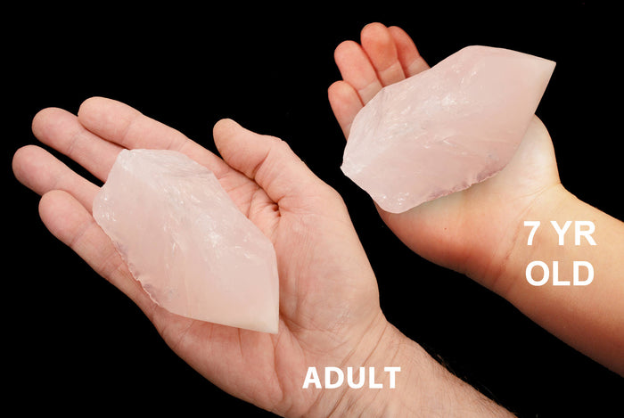 "Rose Quartz Polished Top 3 1/2"" 12-14 Oz Heart Chakra"