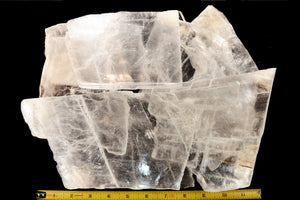"Clear Selenite Slab 6""-8"" 13 Oz - 1 Lb 2 Oz Charging Plate Crown Chakra - Kidz Rocks"
