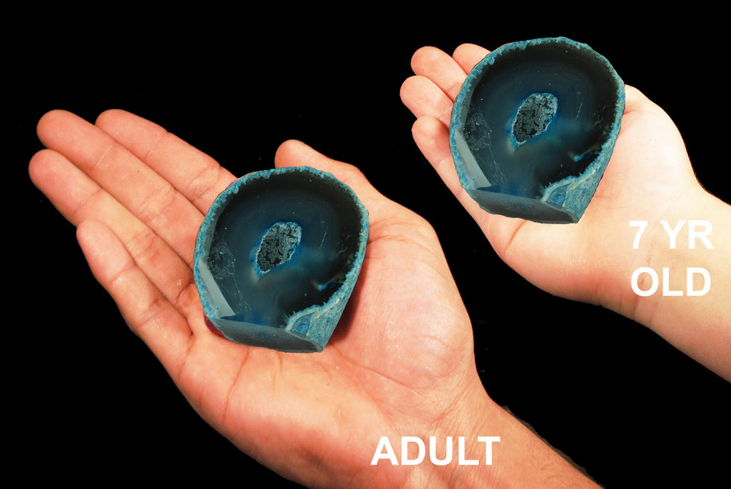 "Agate Geode Blue 2 1/2"" Throat Chakra - Kidz Rocks"