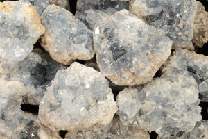 "Celestite Crystal Clusters 2 1/2"" 7-10 Oz Throat Chakra - Kidz Rocks"