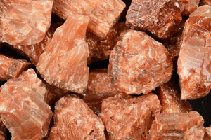 "Red & White Calcite 1 1/2"" 2-4 Oz Root Chakra - Kidz Rocks"