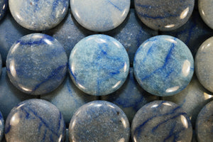 "Blue Quartz Palm Stone 2 1/2"" Throat Chakra - Kidz Rocks"