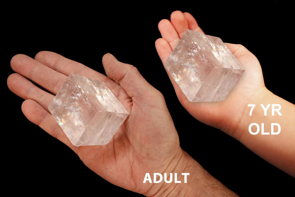 "Optical Calcite Crystal 2"" 4-7 Oz Crown Chakra - Kidz Rocks"