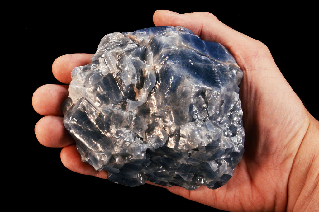 "Blue Calcite 4"" to 5"" 2 Pounds Throat Chakra - Kidz Rocks"