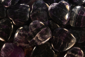 "Purple Fluorite Heart 1 3/4"" Third Eye Chakra - Kidz Rocks"