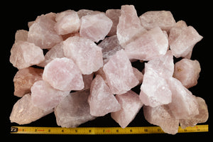 "Rose Quartz Crystal 2 1/2"" 4-7 Oz Heart Chakra - Kidz Rocks"