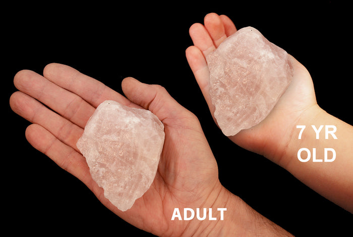 "Rose Quartz Crystal 3""-4"" 8-11 Oz Heart Chakra"