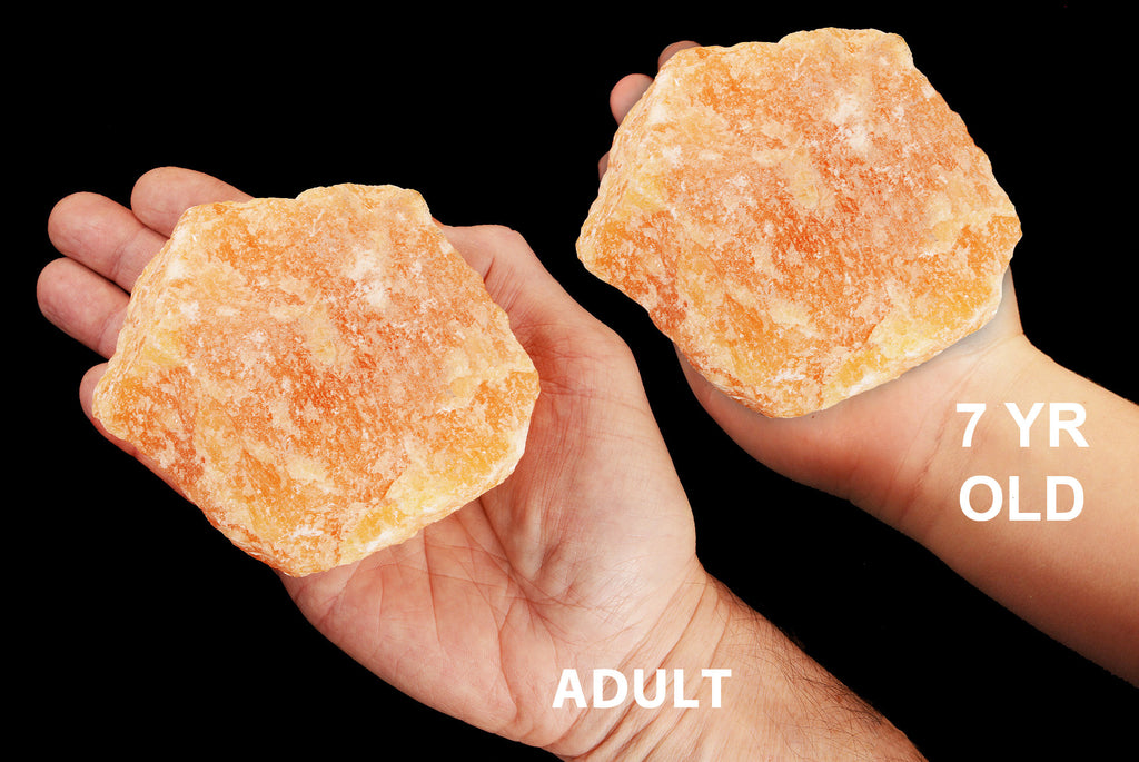 "Orange Calcite 4 1/2"" 2 Lb UNTREATED Sacral Chakra - Kidz Rocks"