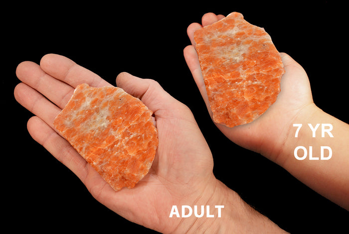 "Orange Calcite Slice 3"" 5-6 Oz Slab Sacral Chakra"