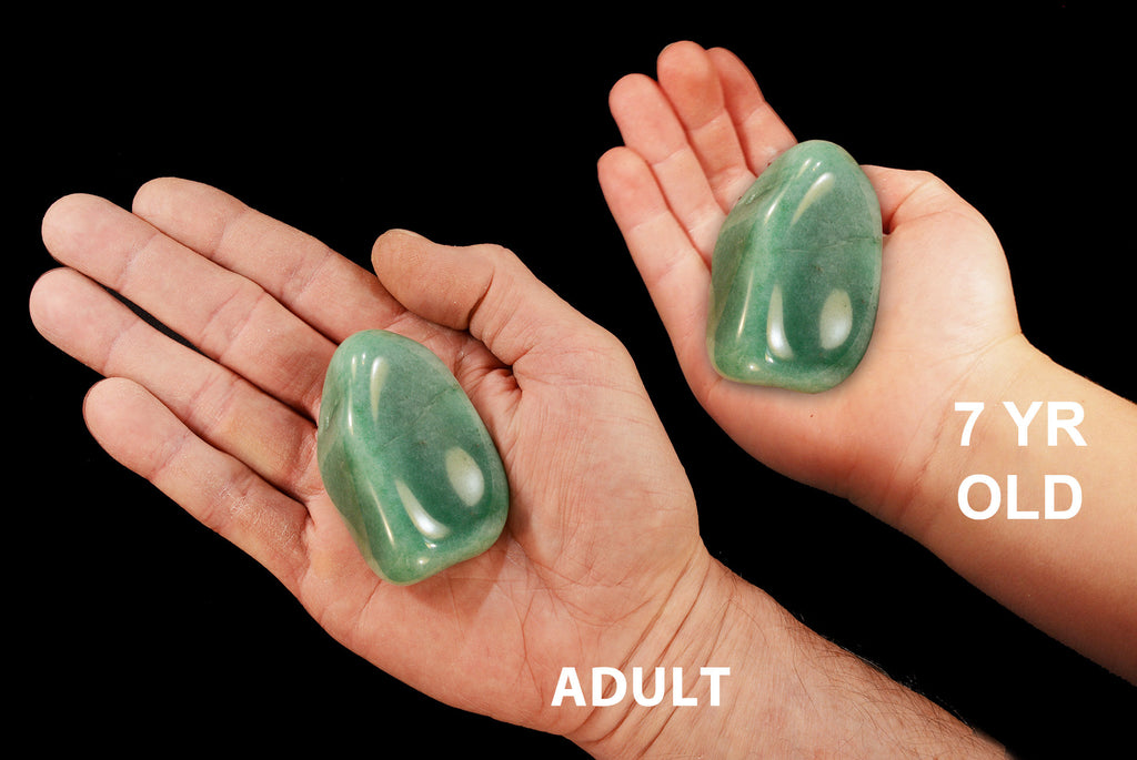"Green Aventurine 3"" 6-8 Oz Heart Chakra - Kidz Rocks"
