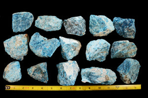 "Blue Apatite 2 1/2"" 6-9 Oz Throat Chakra - Kidz Rocks"