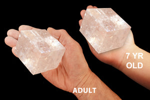 "Optical Calcite Crystal 3"" 13-18 Oz Crown Chakra - Kidz Rocks"