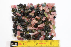 Pink & Green Tourmaline 2 Oz Bag AAA Grade Heart Chakra - Kidz Rocks