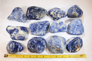 "Blue Sodalite 3"" 6-10 Oz Throat Chakra - Kidz Rocks"