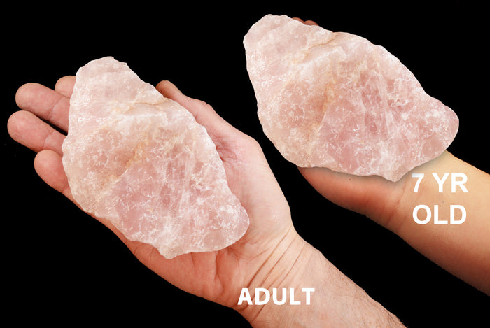 "Rose Quartz Crystal 4""-5"" 1 1/2 - 2 Lb Heart Chakra"