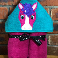 Horse Hooded Towel - Quick Customs