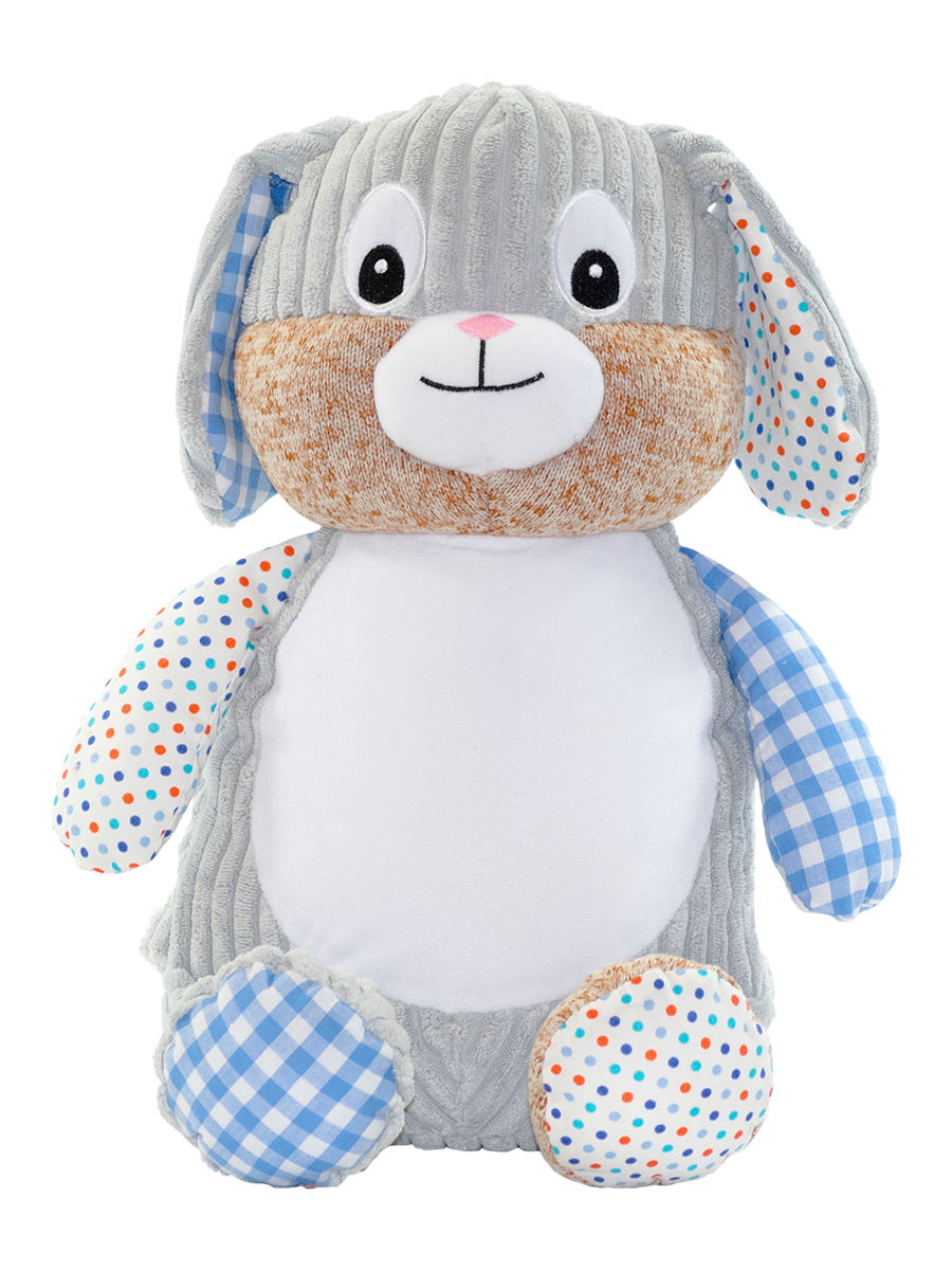 Personalised Plush Harlequin Bunny Toy - Quick Customs