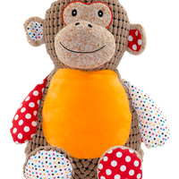 Brown Harlequin Monkey Cubbies Personalised - Quick Customs