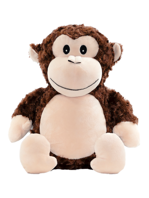 Huggles The Monkey Cubbie Personalised - Quick Customs