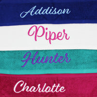 Personalised Embroidered Bath Towels, Individual or as a set - Quick Customs