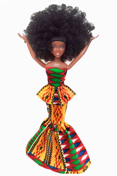 Black African Doll Nana Makeba
