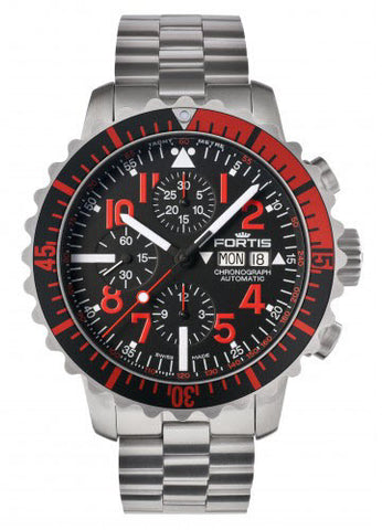 Fortis Watch Aquatis Marinemaster Chronograph Red 671.23.43 M