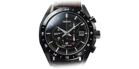 Grand Seiko Watch Spring Drive Sports Black Ceramic GMT Limited Edition GSK-066