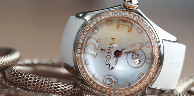 Corum Watch Bubble Mother of Pearl Ladies White Diamond L295/03052