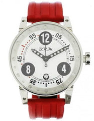 B.R.M. Watches V6-44-GTB Black Hands V6-44-GTB-Red Rubber Strap