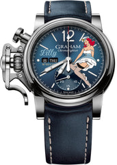 graham-watch-chronofighter-vintage-nose-art-blue-leather