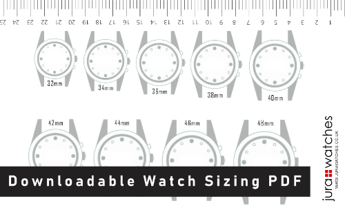 Downloadable Watch Sizing PDF