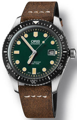 Oris Watch Divers Sixty Five Green Leather