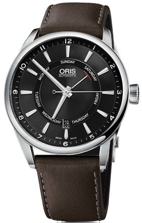 Oris Watch Artix Pointer Day Date Leather D