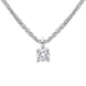 18ct White Gold 0.10ct Diamond Brilliant Cut Solitaire Necklace BLC-101