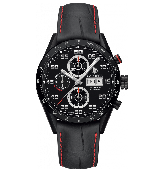 TAG Heuer Watch Carrera Calibre 16 Day Date Black Titanium