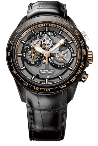 Graham Watch Silverstone RS Skeleton Black & Gold Limited Edition