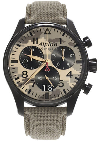 Alpina Watch Startimer Pilot Camouflage Special Edition