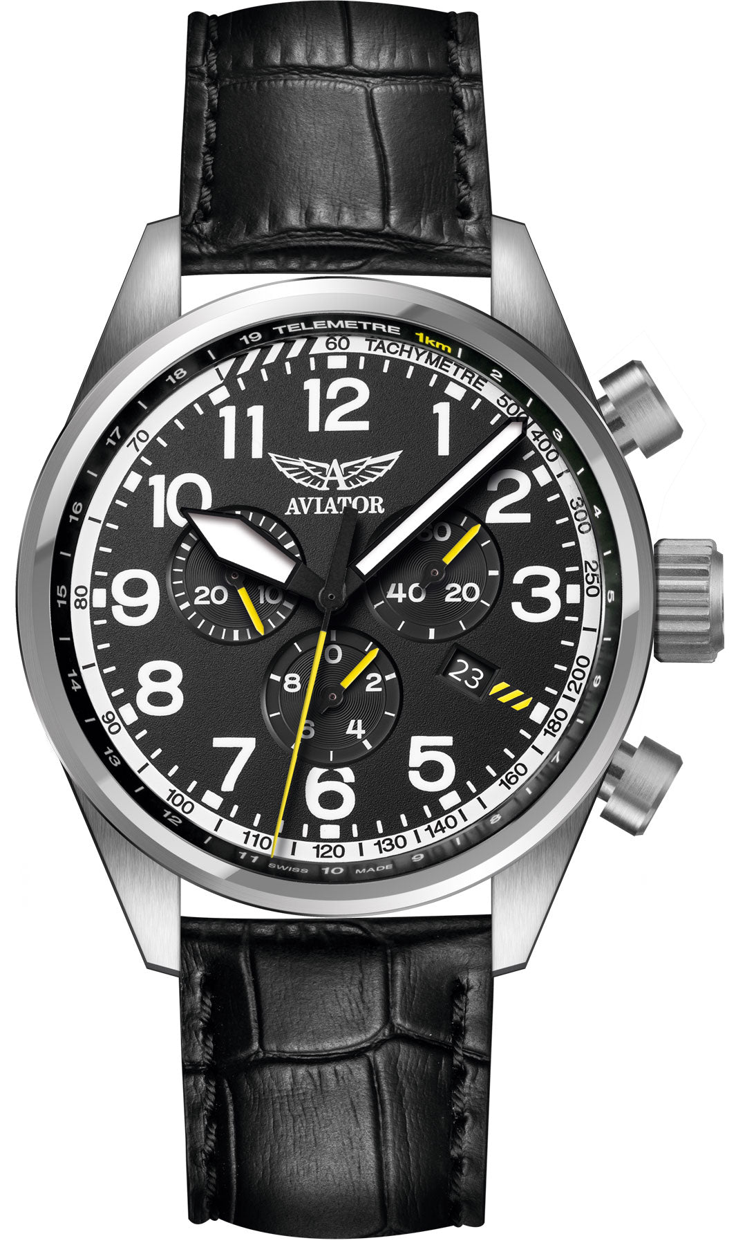 advolat c b watches aviator products elite chronograph casparwatches p watch made swiss
