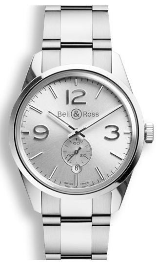 Bell & Ross Vintage BR 123 Officer White Bracelet