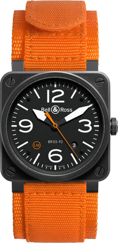 Bell & Ross Watch BR 03 92 Carbon Orange Limited Edition D