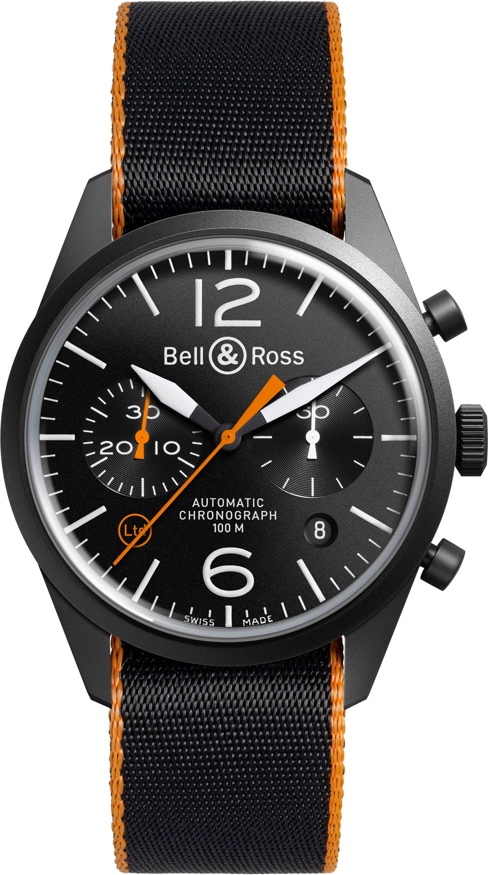 Bell & Ross Watch Carbon Orange Blackbird Limited Edition