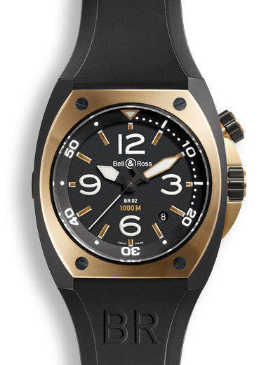 Bell & Ross Watch BR 02 Rose Gold & Carbon