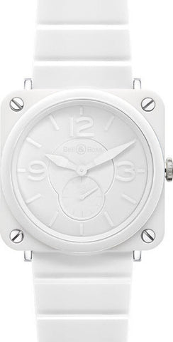 Bell & Ross Watch BRS White Ceramic Phantom