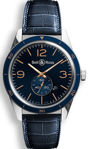 Bell & Ross Watch BR 123 Aeronavale Alligator Mens