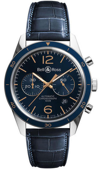 Bell & Ross Watch BR 126 Aeronavale Alligator Mens