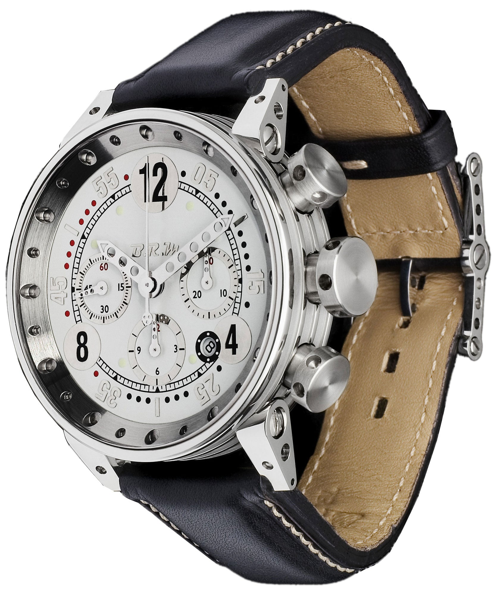B.R.M. Watches V12-44 GTB Silver Hands